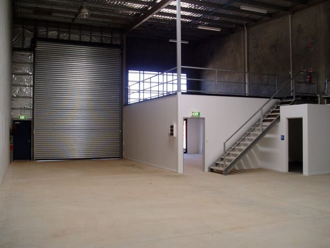 Warehouse office studio pinterest warehouse office for Garage mezzanine ideas