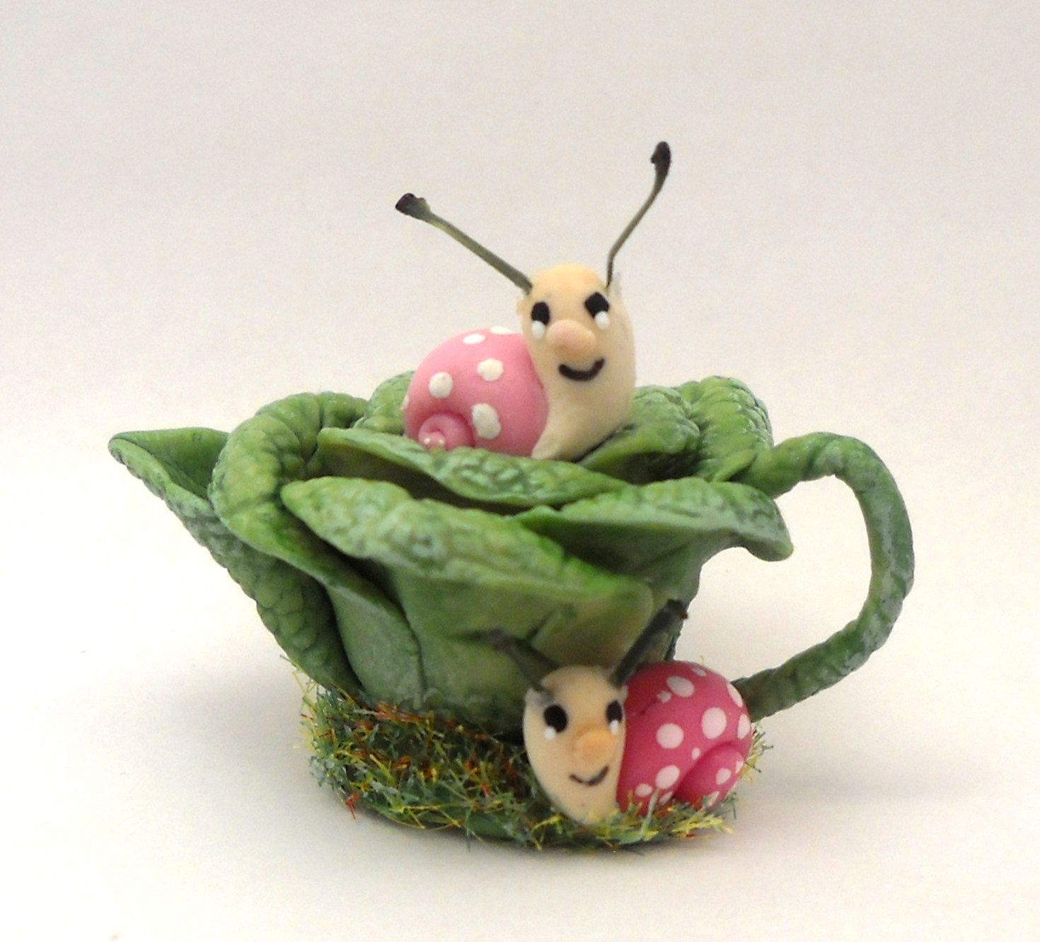 1/12TH scale - garden cabbage with snail teapot by Lory