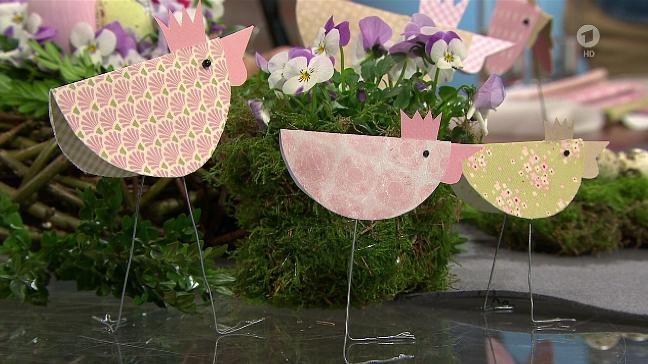 Selbermachen Hühnerfamilie Aus Papier Als Tischdekoration