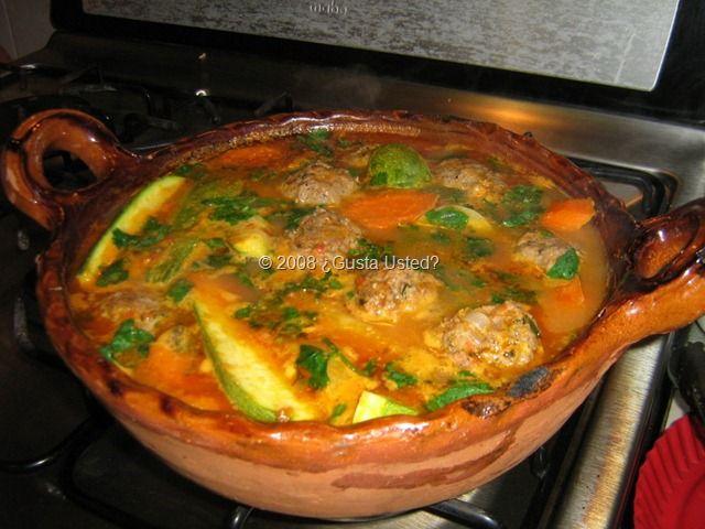 Alb ndigas en caldo con verduras receta mexicans food for Albondigas de verduras