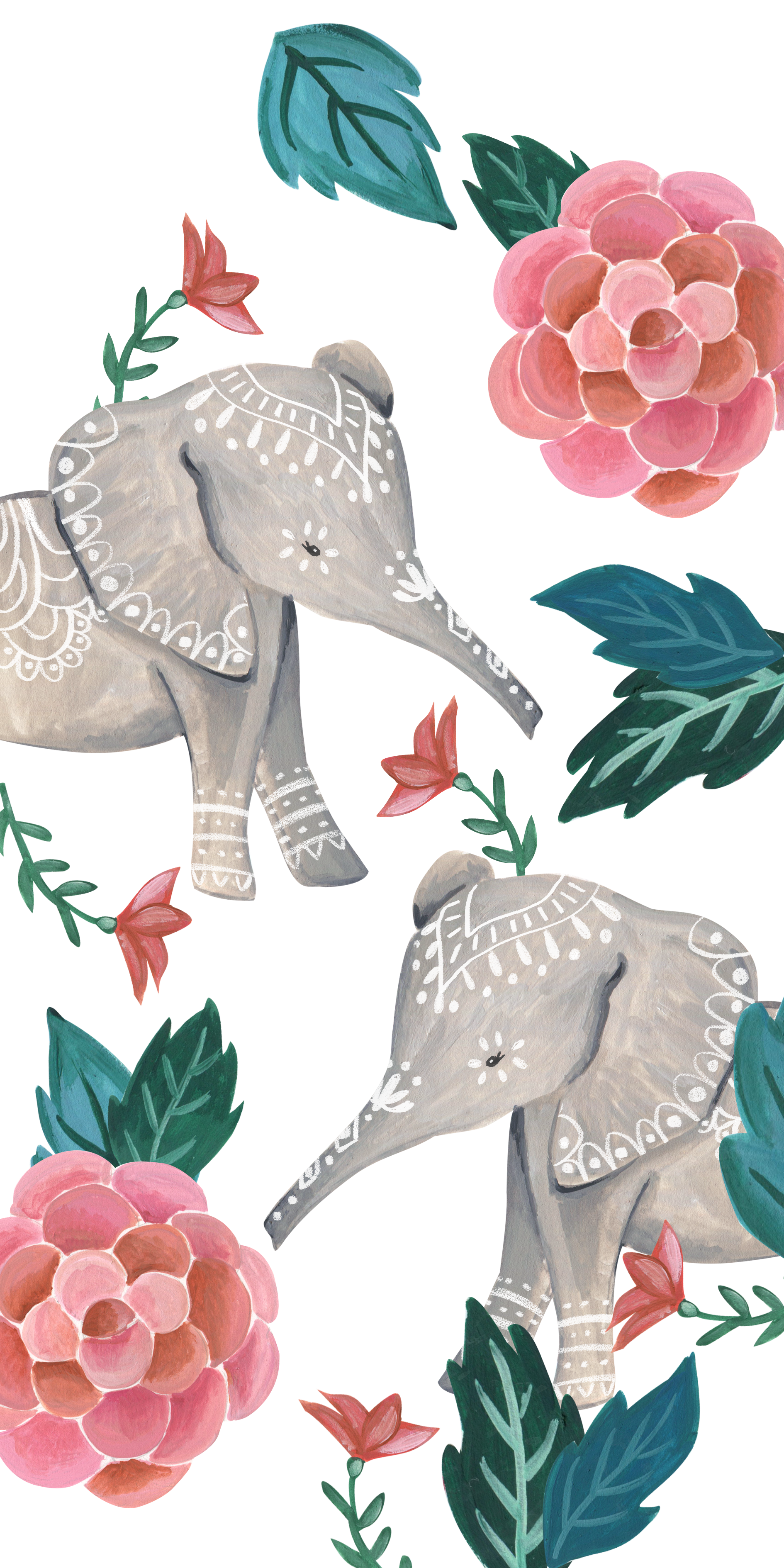 Floral Elephant Casetify Iphone Art Design Cute