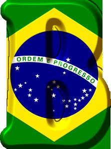 877d919be Alfabeto con la Bandera de Brasil