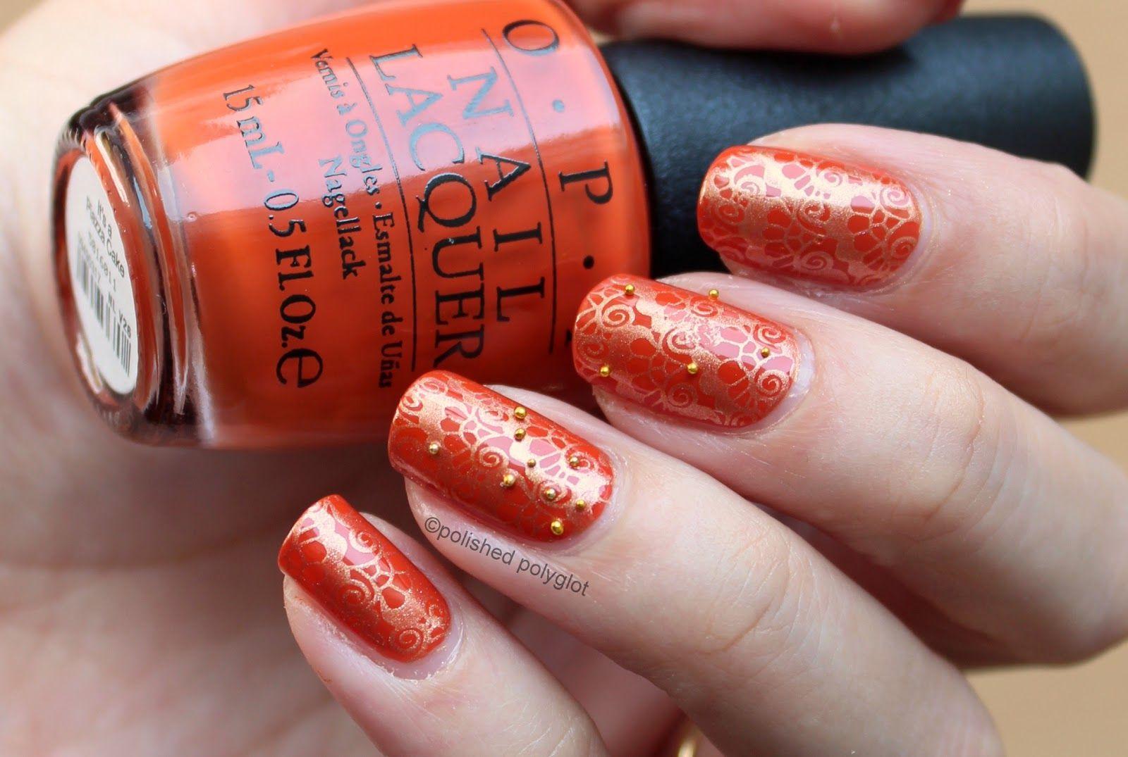 See fancy nail art using OPI Nail Polish from Venice collection ...