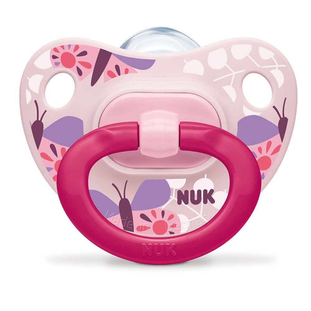 NUK Classic Fashion Set de 2 Sucettes pour Fille Taille 1