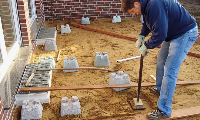 Fundamentsteine Terrasse fundamentsteine terrasse | house outdoor deco | garden, shed floor, deck