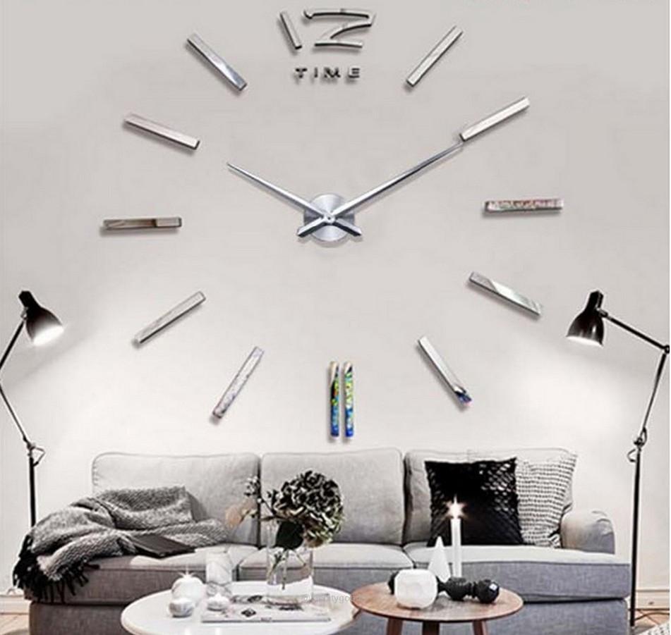 Modern 3D Big Mirror Wall Clock   Pinterest   Mirror wall clock ...