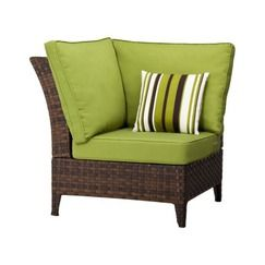 Belmont Brown Wicker Patio Corner Sectional Chair Quick Information