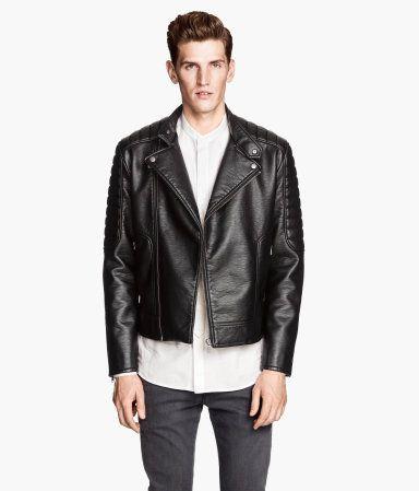 Výsledok vyhľadávania obrázkov pre dopyt leather jacket hm men