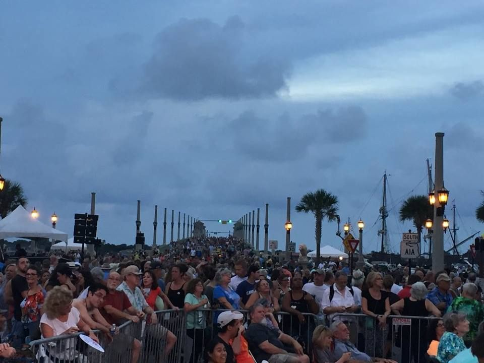 The Bridge of Lions was closed and thousands of people were on the streets of downtown St. Augustine.