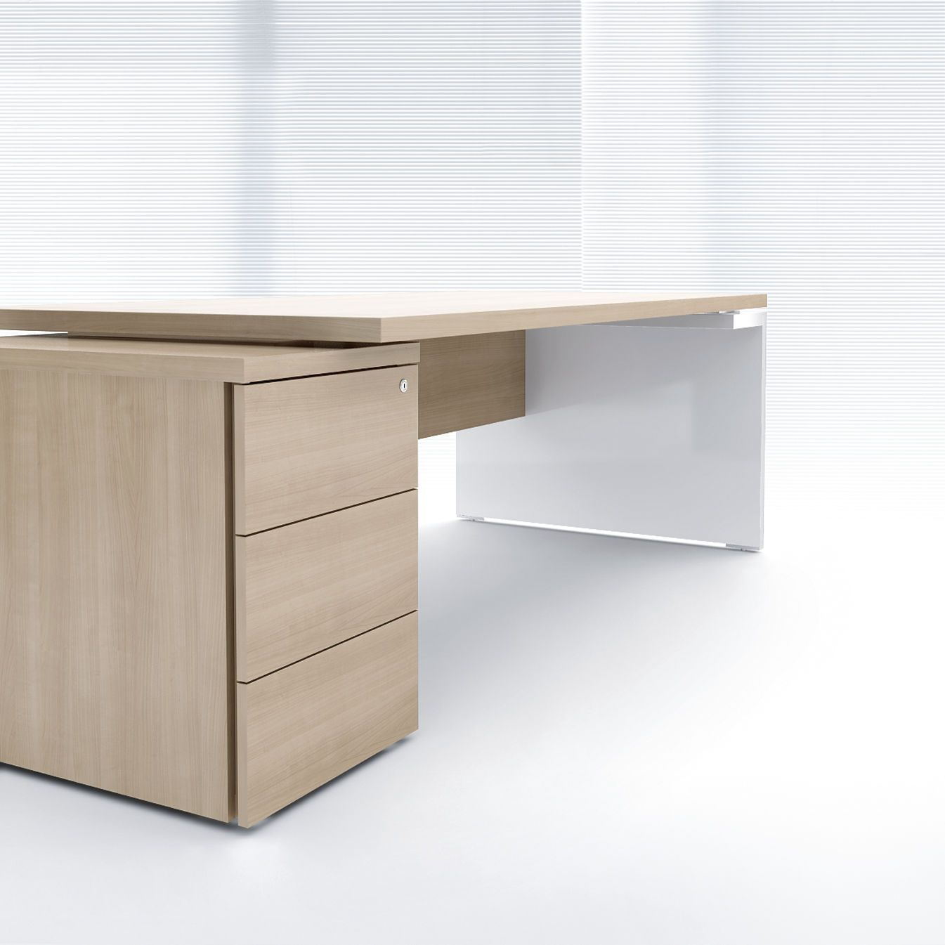contemporary wood office furniture. Executive Desk / Contemporary Wood Veneer Commercial - MITO MDD Office Furniture