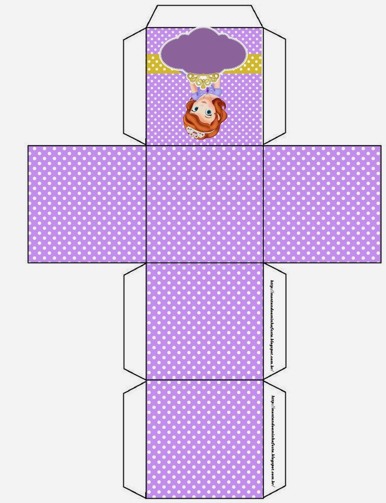 Fiesta de Princesa Sofía: Cajas para Imprimir Gratis. | Ideas y material gratis para fiestas y celebraciones Oh My Fiesta!