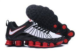 sports shoes 32ab4 b014f Humanized Nike Shox TLX KPU White Black Red Shox Nz Mens Athletic Running  Shoes Trainers
