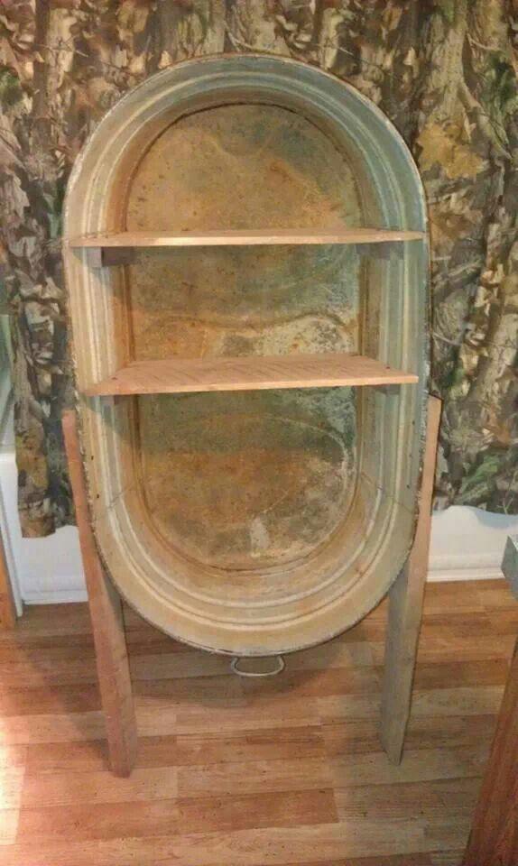 Old Wooden Bathtub