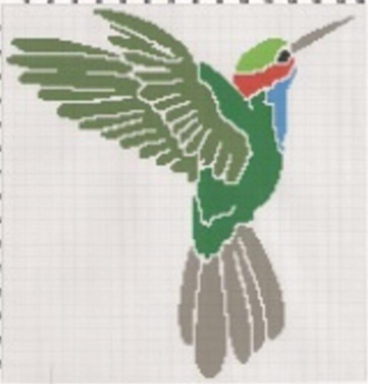 Hummingbird 1 afghan graph pattern | Pinterest | Cortinas, Mochilas ...
