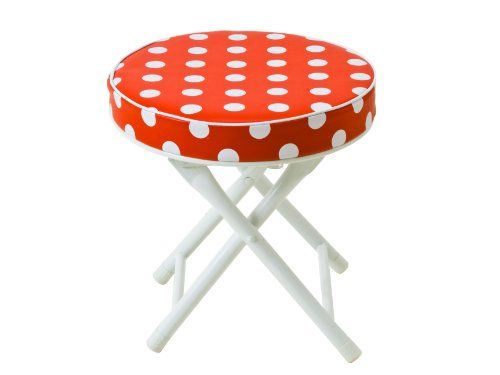 Camping Stools - Pin It :-) Follow US :-))  zCamping.com is your Camping Product Gallery ;) CLICK IMAGE TWICE for Pricing and Info :) SEE A LARGER SELECTION of camping stools at http://zcamping.com/category/camping-categories/camping-furniture/camping-stools/ -  hunting, camping, portable chair, camping stools, camping gear, folding chair, camping chair, chair -  J.I.P. Cushioned Folding Stool with Safety Lock, Red with White Dots « zCamping.com