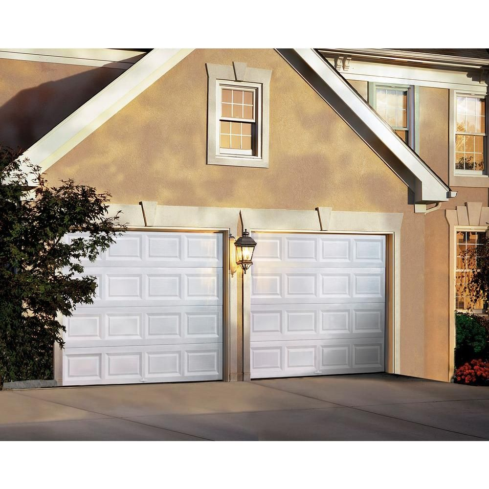 Clopay Classic Collection 8 Ft X 7 Ft Non Insulated White Garage Door Hdb Garage Doors White Garage Doors Garage