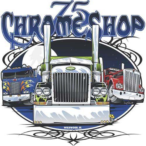 75 Chrome Shop >> 75 Chrome Shop Tshirt Illustration Fabians Logos Truck Art