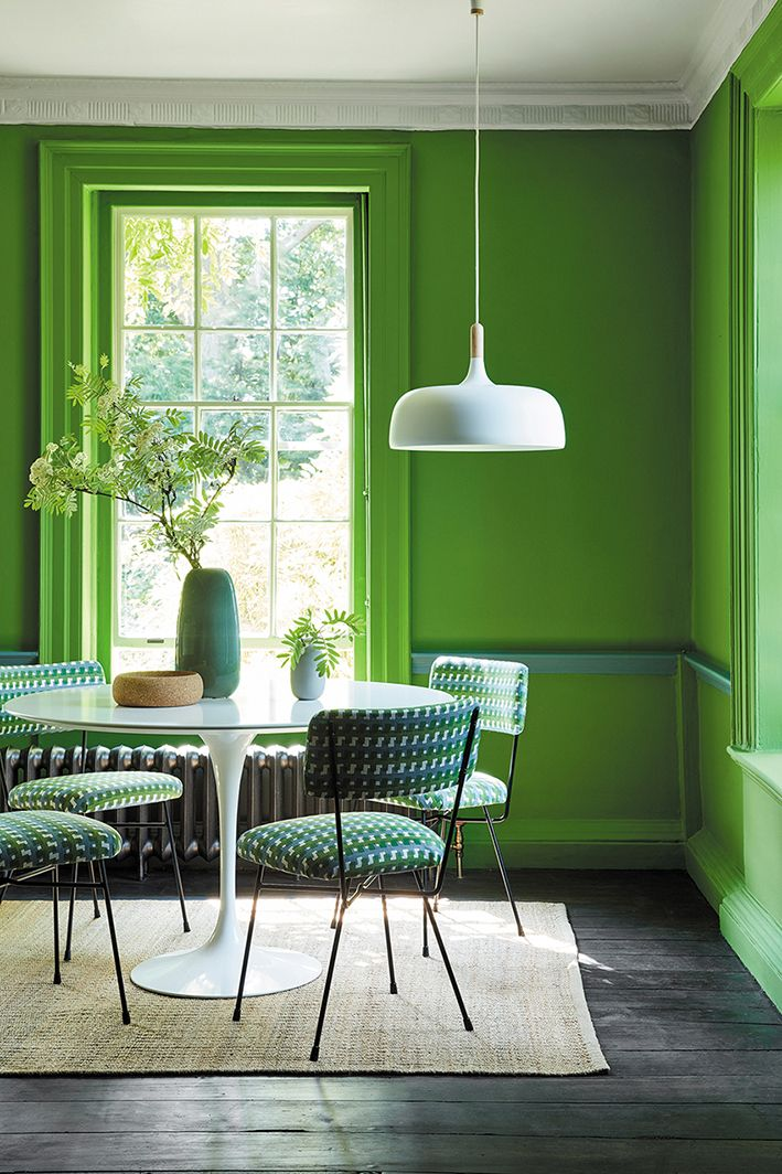 Love These Sage Green Paint Colours By Little Walls In Onions Bright Lime 50s With Darker Dado Rail