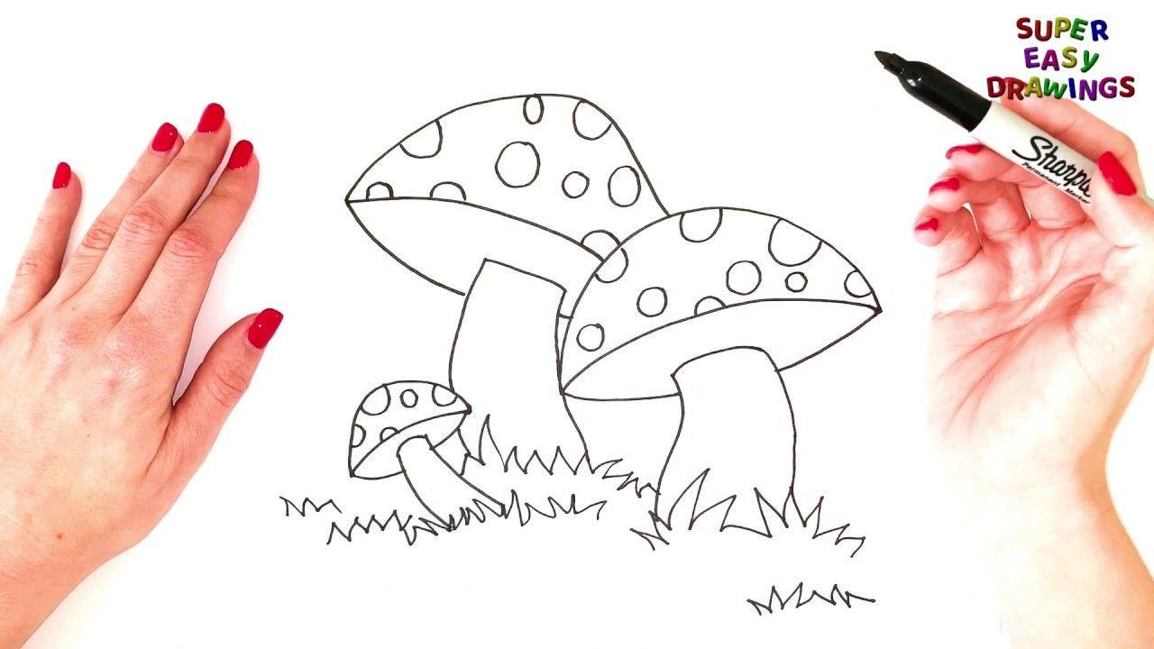 How To Draw A Mushroom Step By Step   Mushroom Drawing Tutorial ...