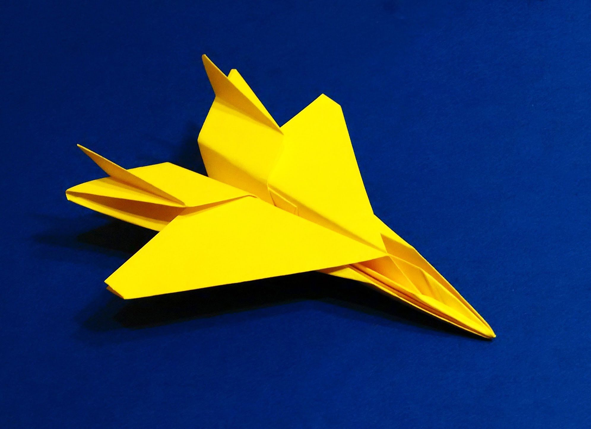 How to make an F15 Eagle Jet Fighter Paper Plane (Tadashi ... - photo#29