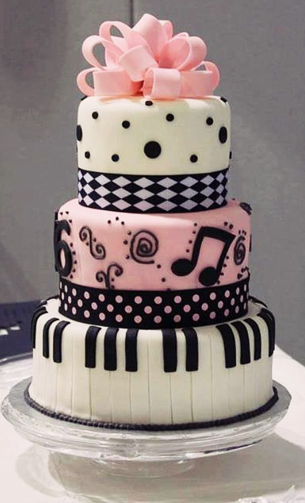 Pink Rock N Roll Wedding Cake Ideas For Brides Bridesmaids