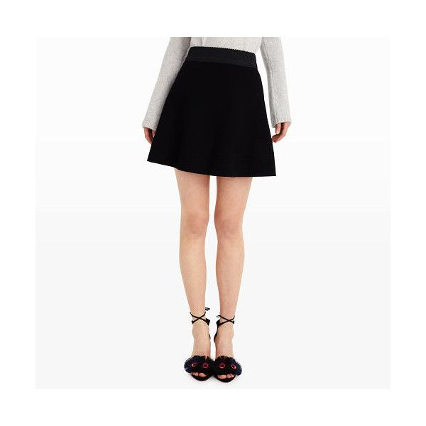 Club Monaco Mireva Sweater Skirt in Color Black (1 500 SEK) ❤ liked on Polyvore featuring skirts, black, patterned skirts, print skater skirt, patterned skater skirt, jacquard skirt and club monaco skirts