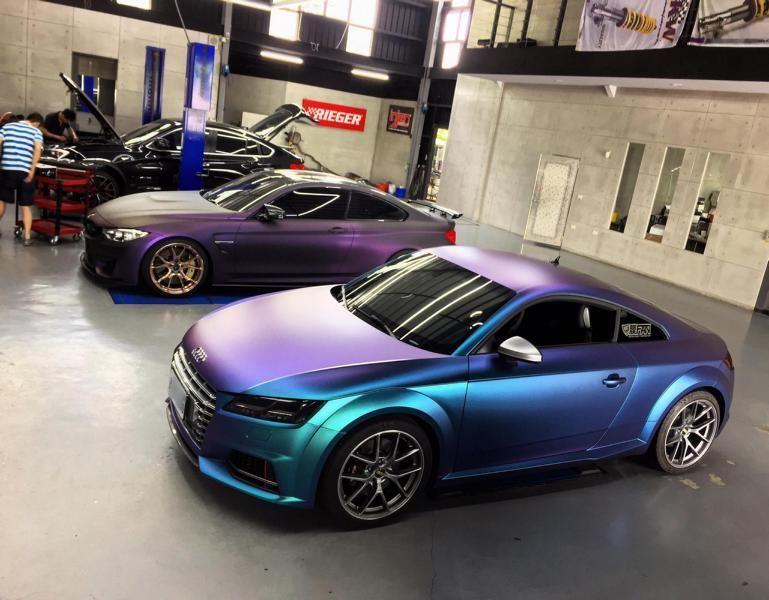 f2953d8c28463a EDO Projekt Abt Audi TTS zmiana koloru foliowanie flipflop Wrap Tuning (2)