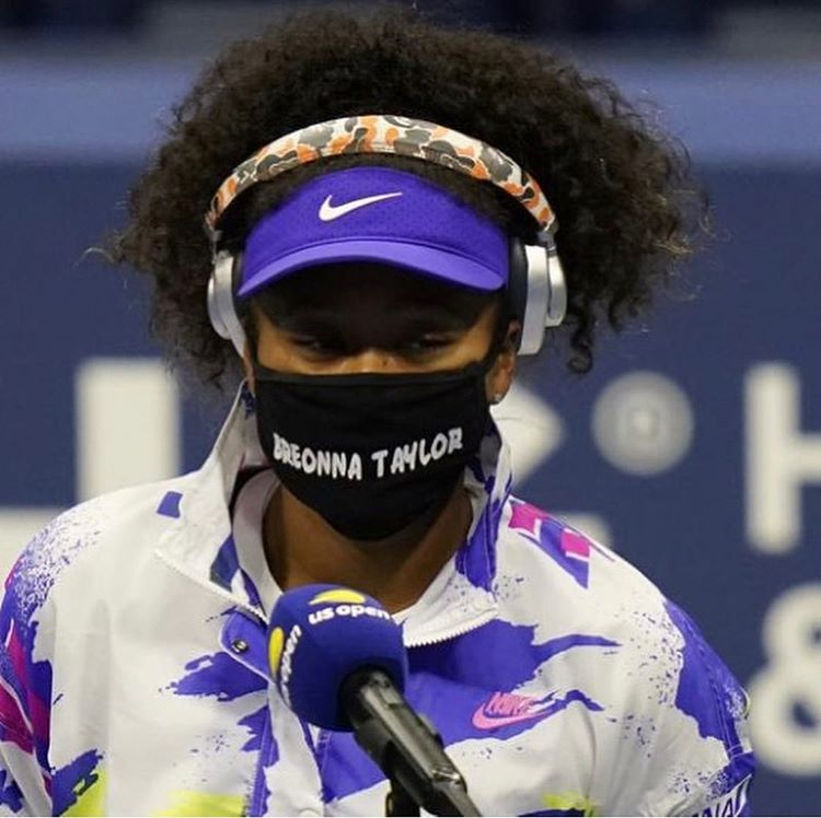 Tennis Star Naomiosaka Wore A Face Mask Honoring Breonna Taylor To Her First Round Match At The U S Open In A Post Match Interview O
