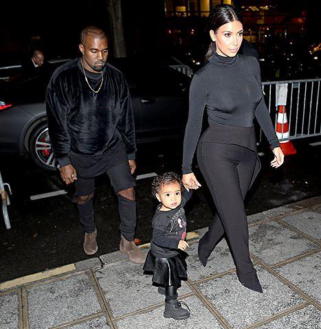 Look Who S Walking North West Steps Out With Kim Kardashian In Paris Kim Kardashian And Kanye Kanye West And Kim Kim Kardashian Kanye West
