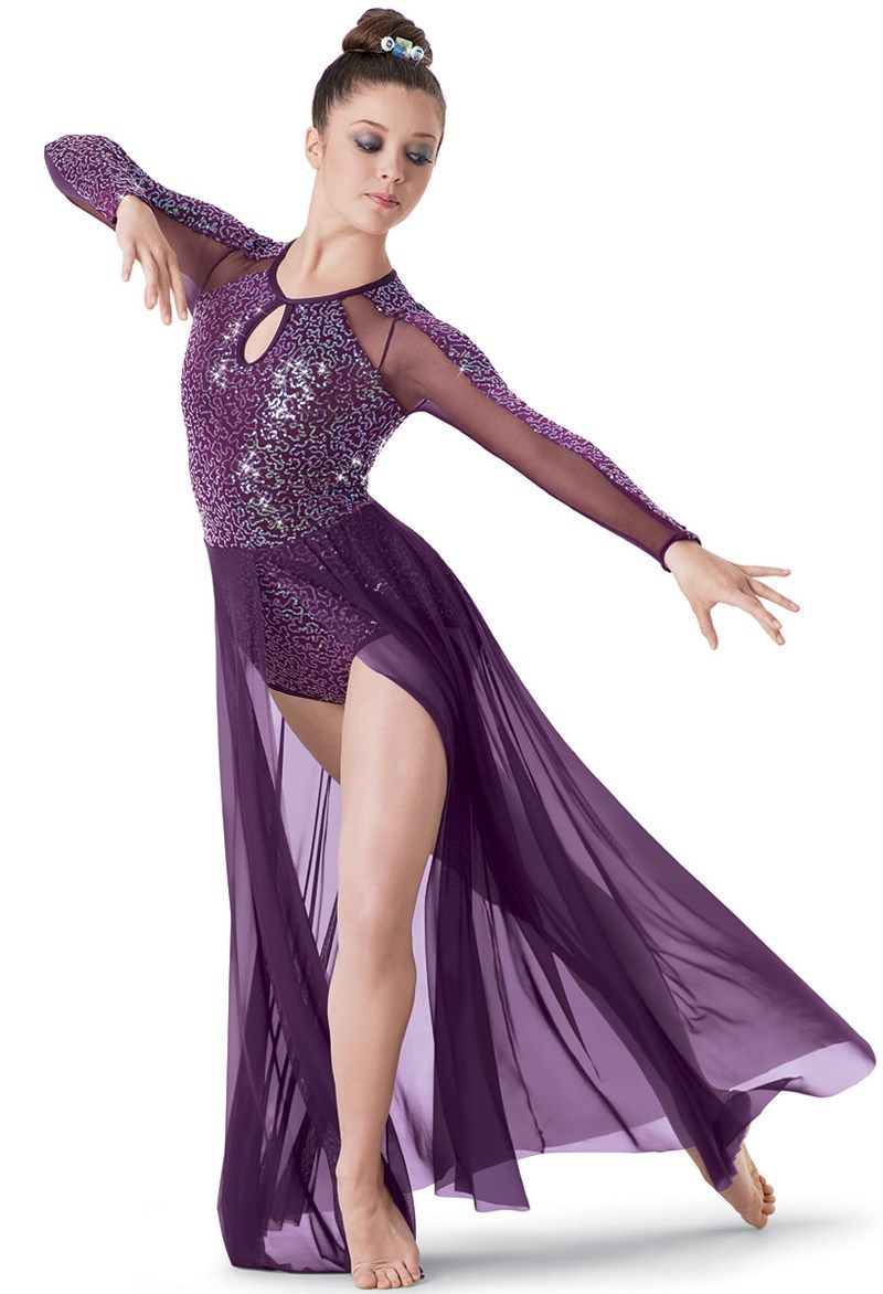 Weissman™ | Long-Sleeve Sequin Mesh Maxi Dress | costumes/props ...