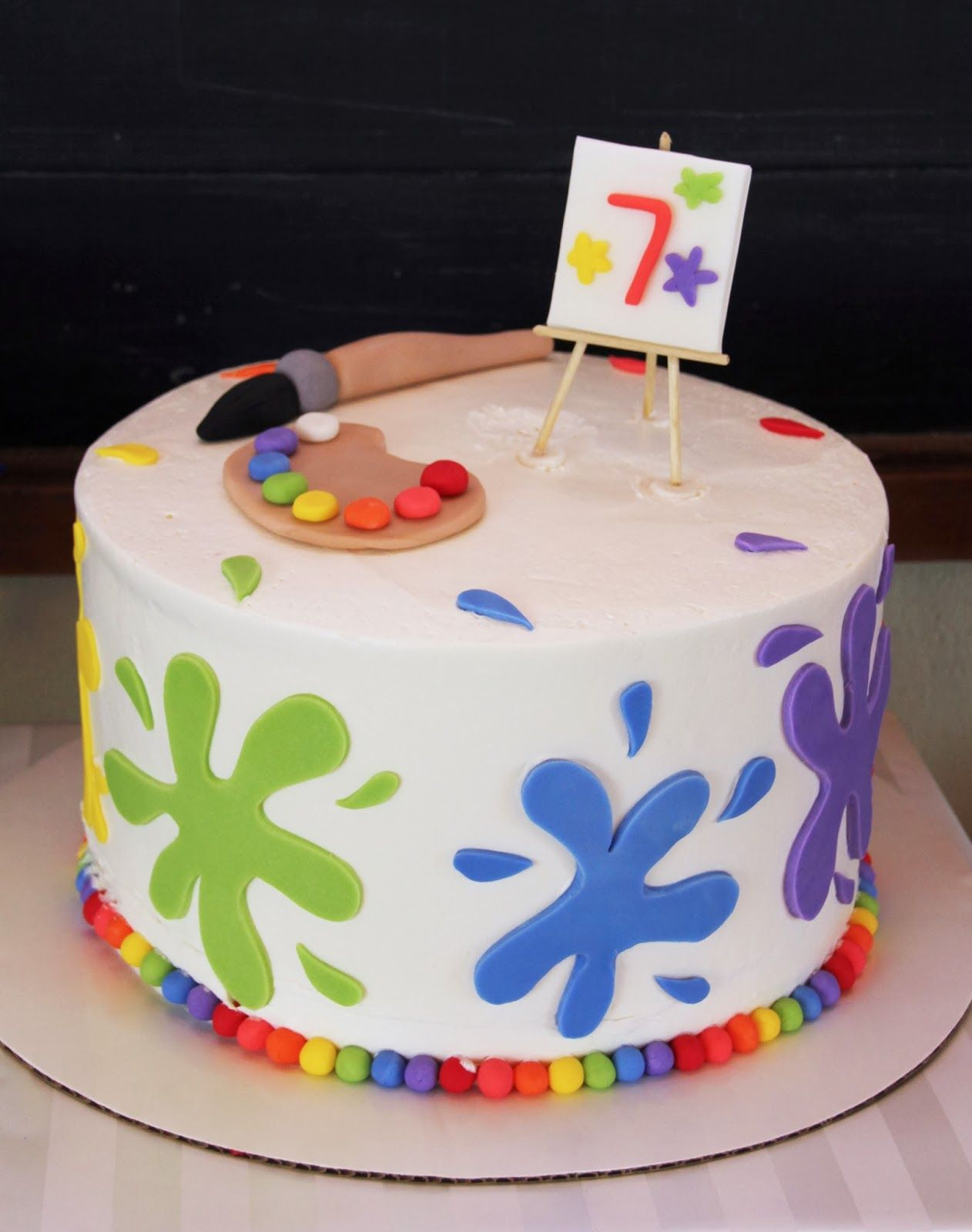 5M Creations Rainbow Art Party art paint cake Art Party