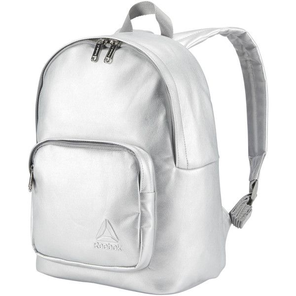 Reebok Premium Metallic Backpack ( 65) ❤ liked on Polyvore featuring bags