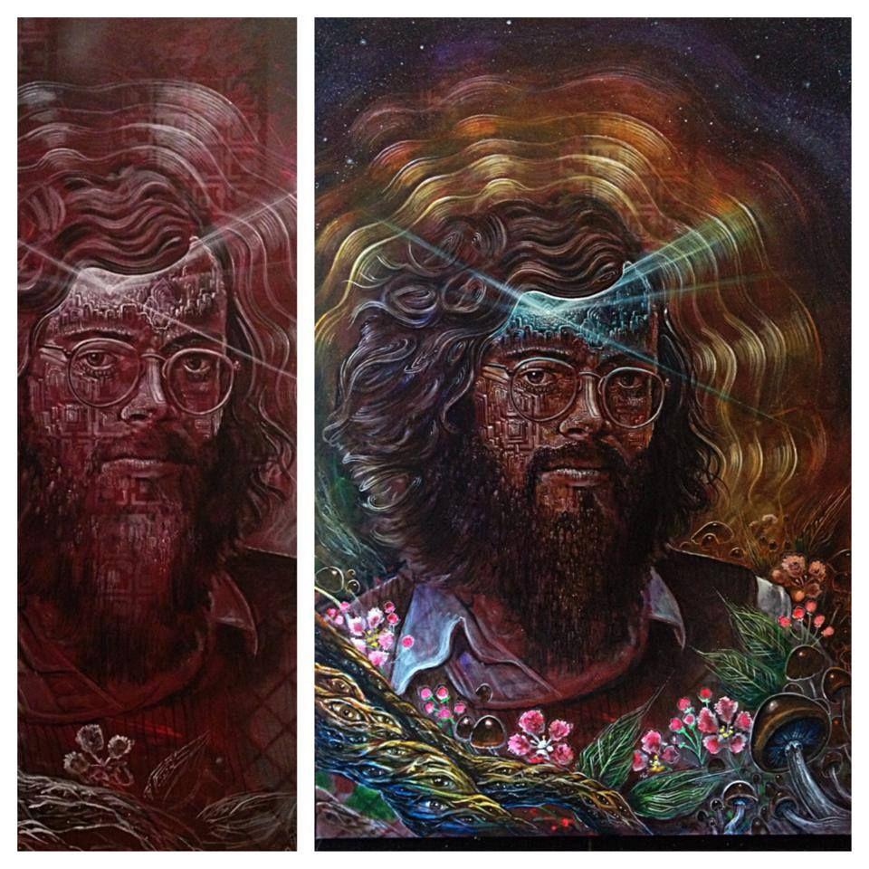 Terence Mckenna Art >> Terence Mckenna Art Spray Can Art Visionary Art