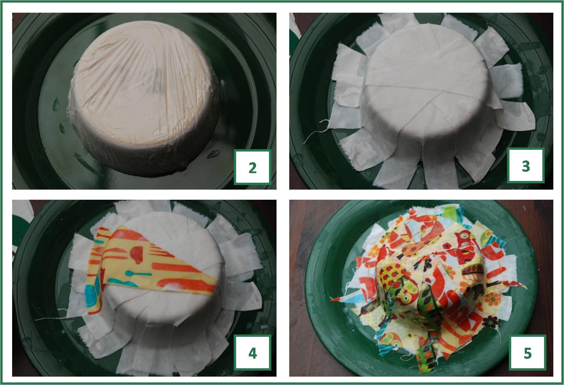 How to... make a Fabric Mâché Bowl Fabric bowls, Paper