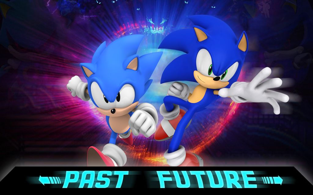 Classic And Modern Sonic Sonic Sonic Heroes Future Wallpaper