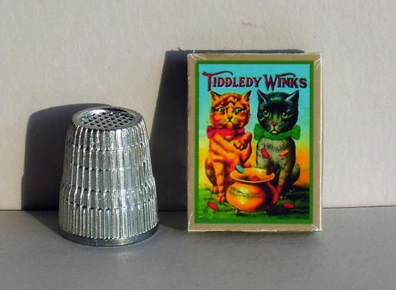 Cat Tiddledy Game -  Dollhouse Miniature - 1:12 Scale -  Dollhouse Accessory - Victorian Dollhouse T #dollhouseaccessories