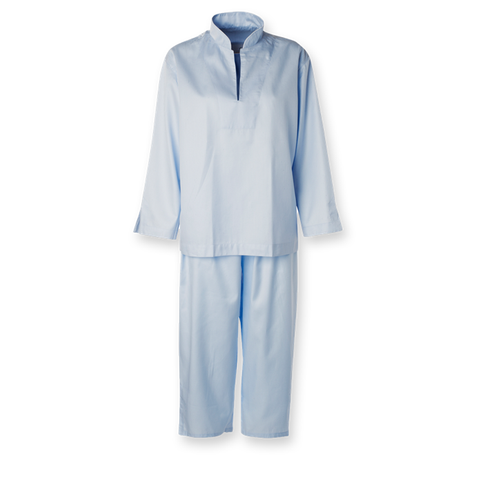 Photo of Dame pyjamas Lyseblå smal strib