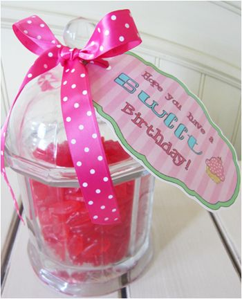 This SWEET Gift Tag Is So Easy To Print Cut Out And Attach A Fun Container Full Of Treats I Have Delivered Little Birthday Several