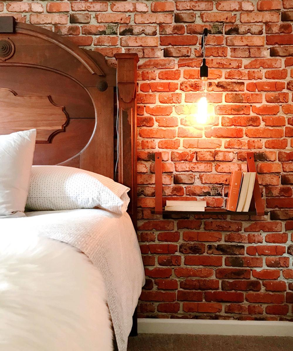 Camden Factory Bricks Wallpaper, Realistic Red Brick • Milton