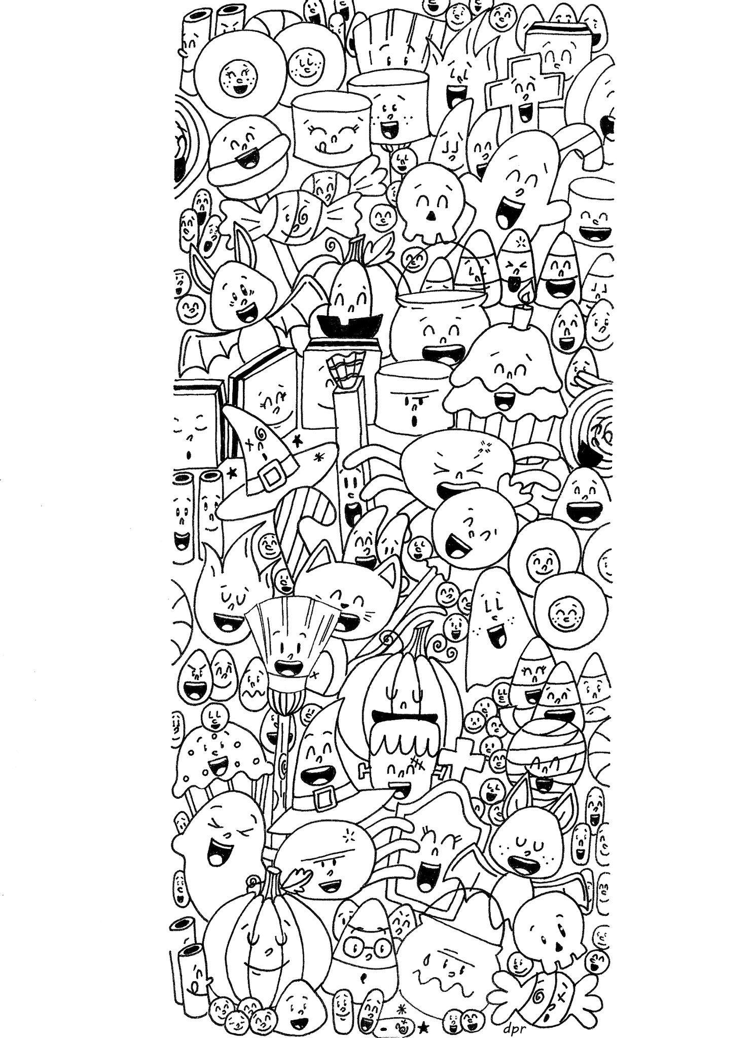 coloriage halloween | colorete | Pinterest | Colorear, Mandalas y Dibujo