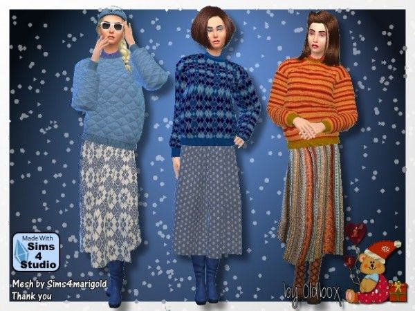 All4Sims: Winter outfit by Oldbox • Sims 4 Downloads