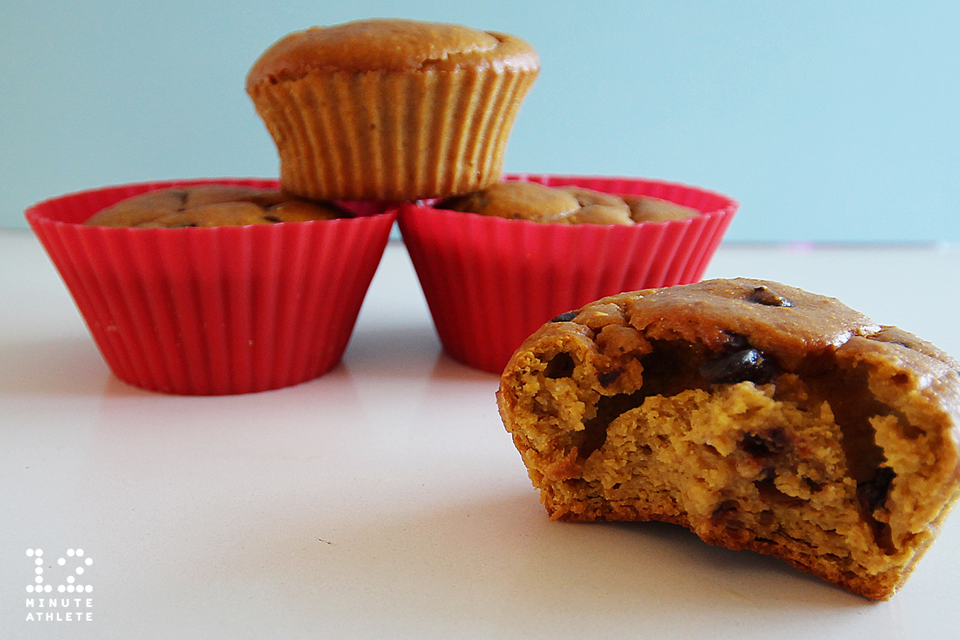 This chocolate chip pumpkin protein muffin recipe is great for the beginning of fall.