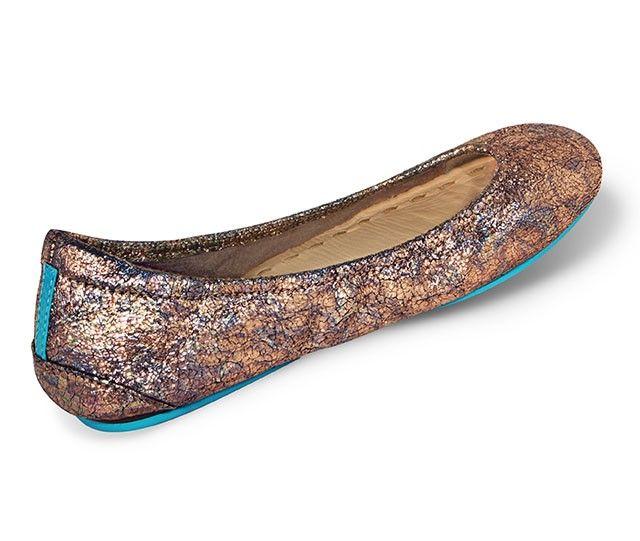 Aqua Sparkle Shimmer Lace Look Slip On Ballet Flat Flats Skimmers Boat Shoes 11