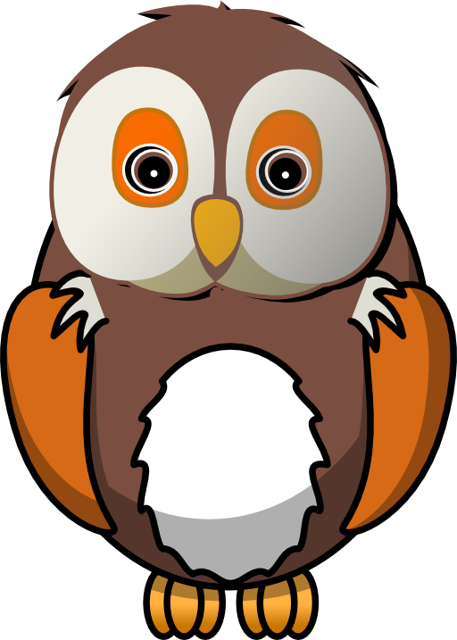 Cute Wise Owl Clipart