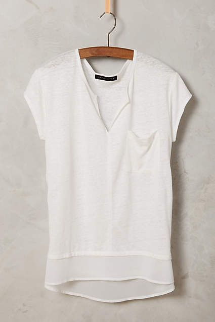 Linen Pocket Tee - #anthroregistry