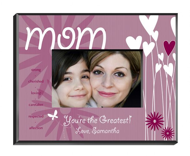 personalized hearts and flowers mom frame always free laser engraving create your own picture - Mom Picture Frame