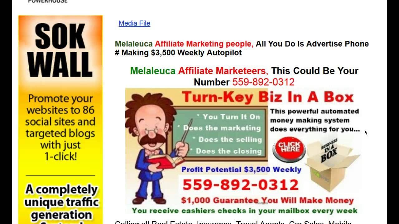 Melaleuca affiliate marketing leads 5598920312 leads