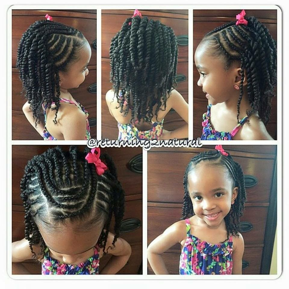 Braids And Twists With Images Lil Girl Hairstyles Kids