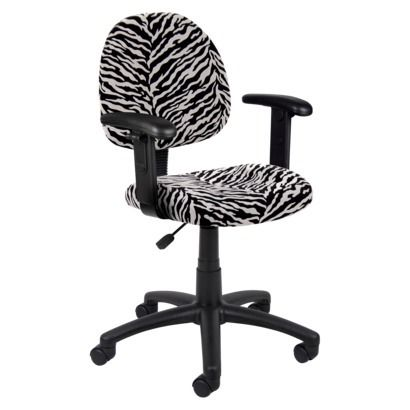 Zebra Print Desk Chair......this Would Be Perfect In Meggieu0027s