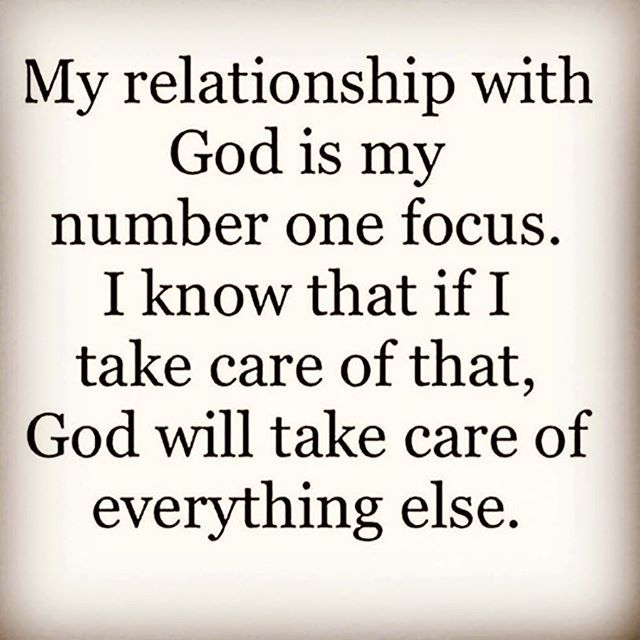 I m in a relationship with god